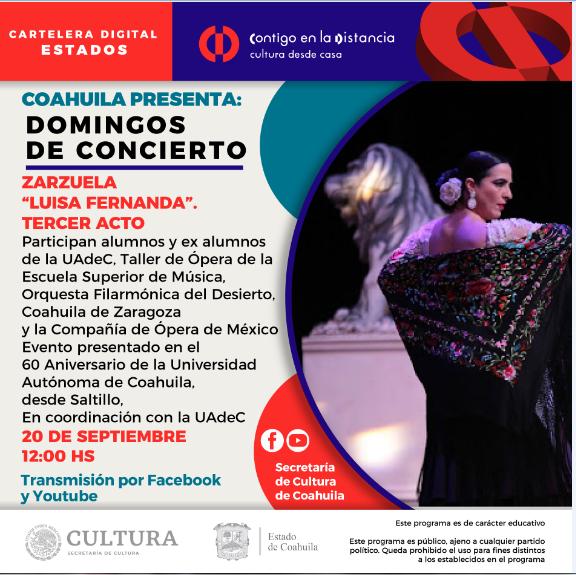 Coahuila presenta: Domingos de concierto