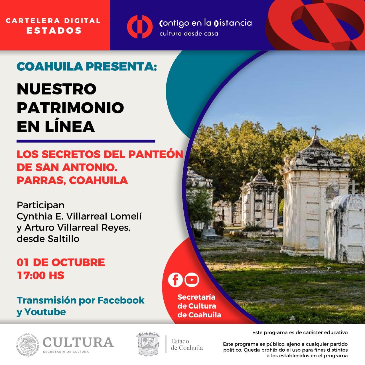 Coahuila presenta: Nuestro Patrimonio en línea.