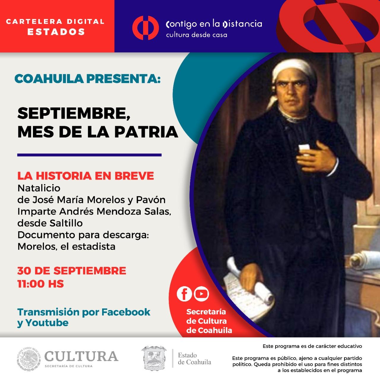 Coahuila presenta: Septiembre, mes de la Patria