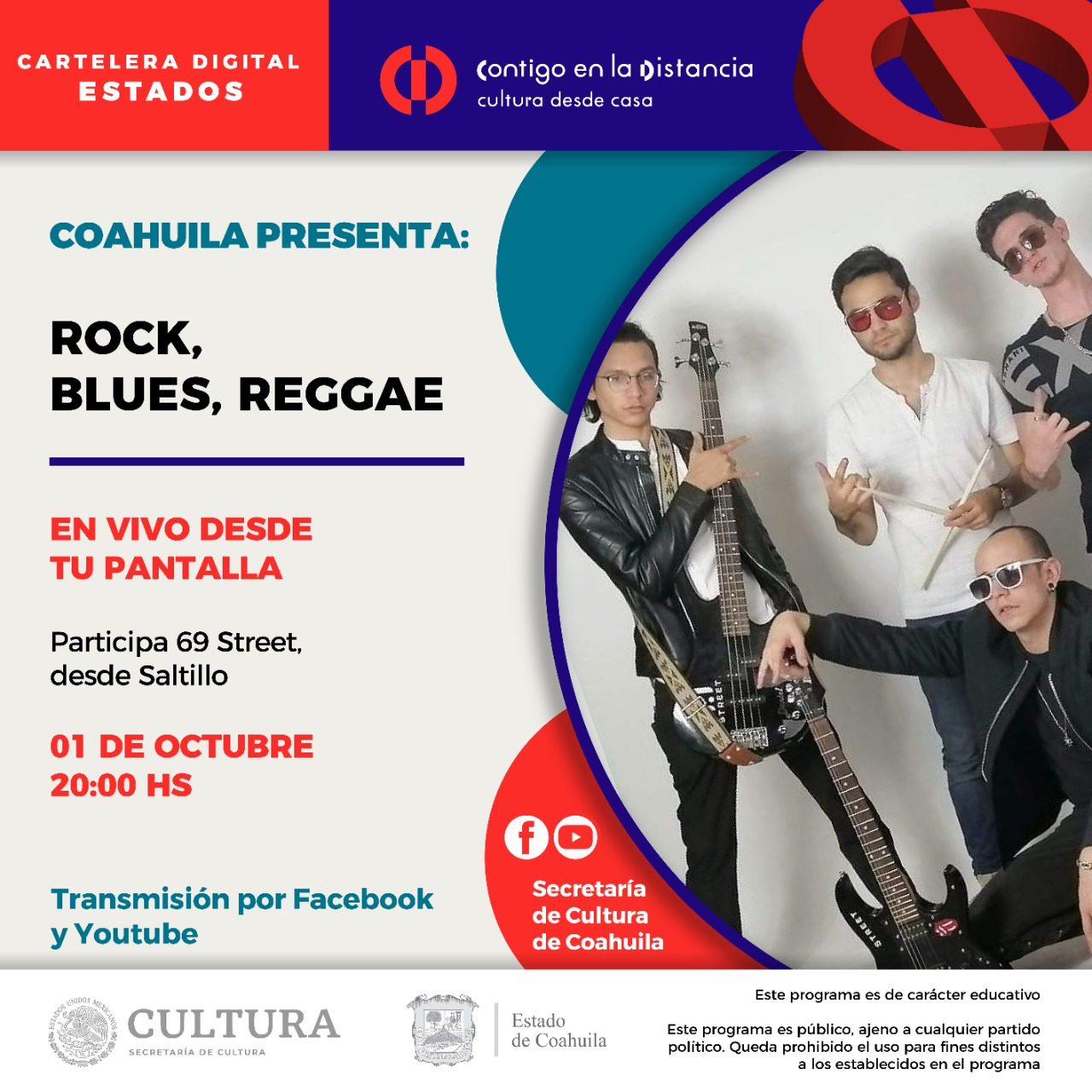 Coahuila presenta: Rock, Blues y Reggae