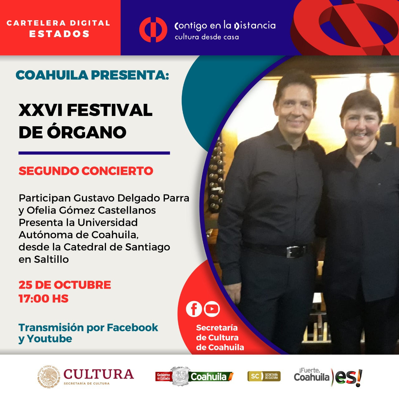COAHUILA PRESENTA: XXVI FESTIVAL DE ÓRGANO