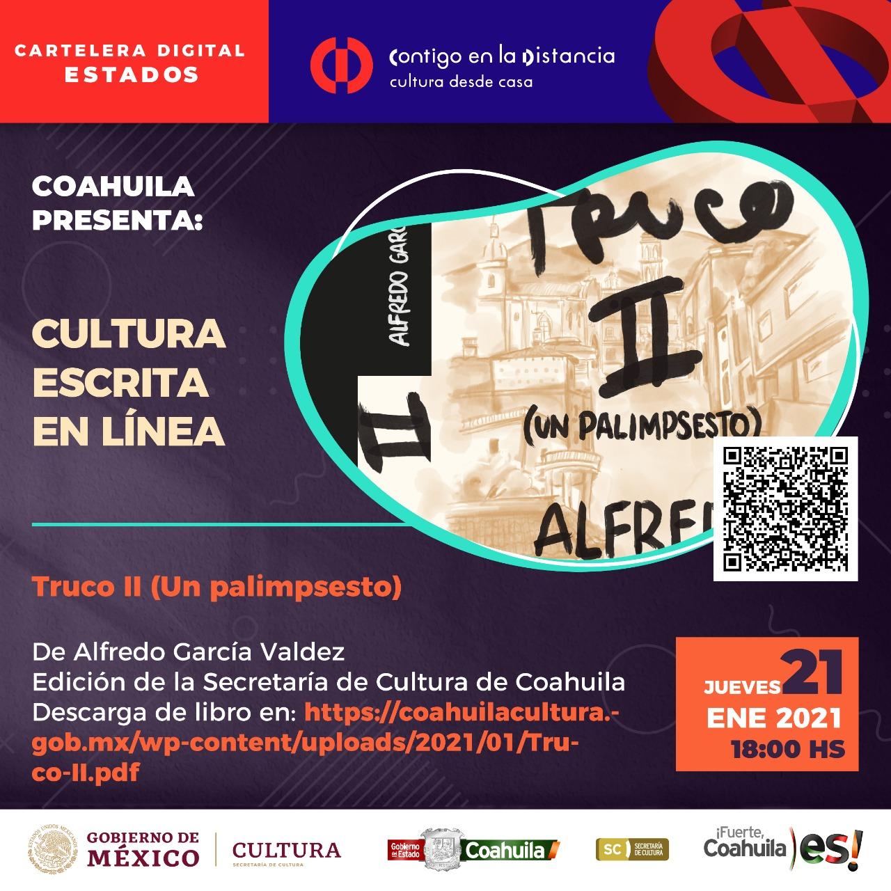 COAHUILA PRESENTA: CULTURA ESCRITA EN LÍNEA