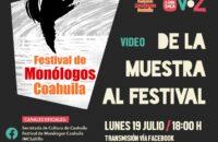 LLEGA EL XXV FESTIVAL DE MONÓLOGOS COAHUILA
