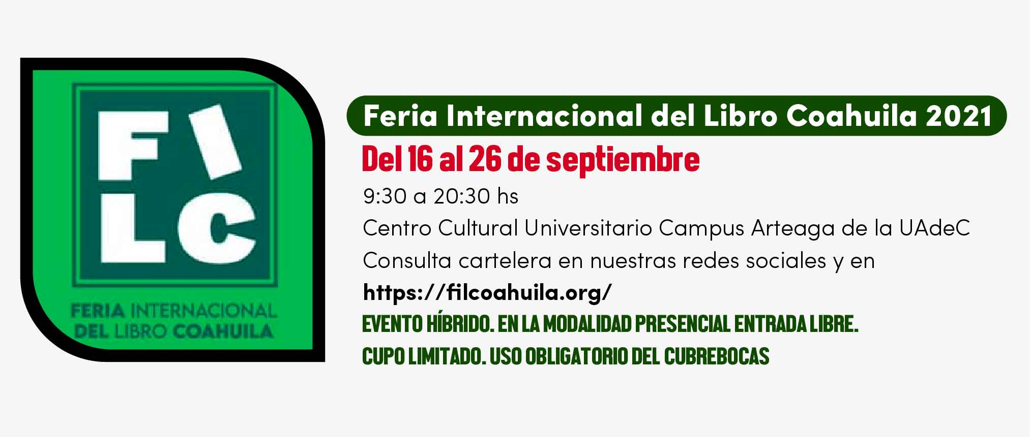 FERIA INTERNACIONAL DEL LIBRO COAHUILA 2021